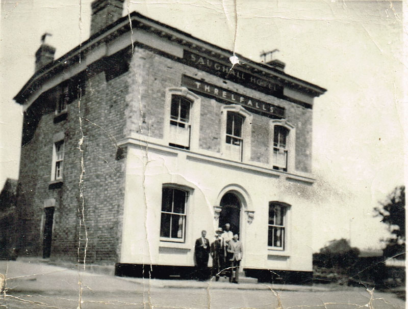 Saughall Hotel before being extended