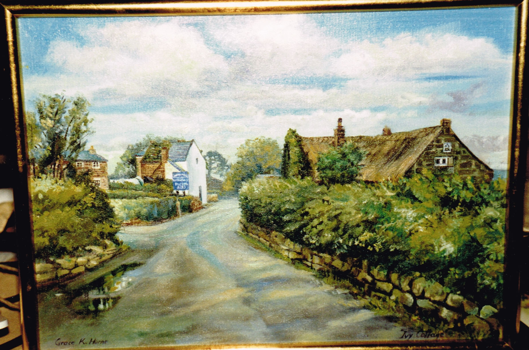 painting of the village
